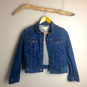 H&M Medium Wash Denim Cropped Jacket